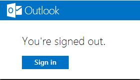 Sign out Hotmail & Outlook