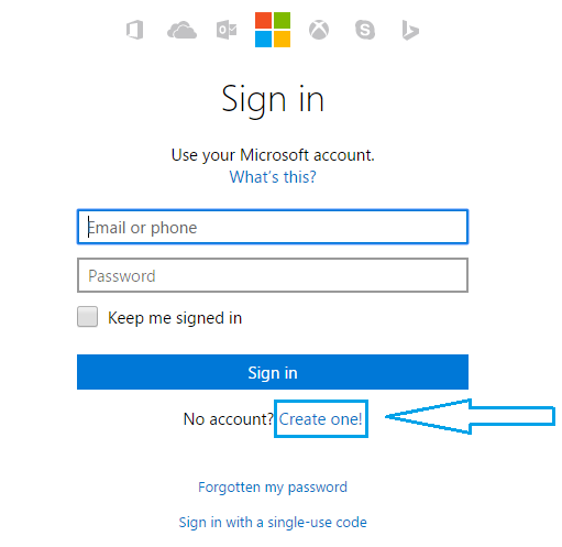 hotmail sign in email